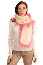 RRP €2730 PRADA Mink Fur Scarf Silk Lined Ostrich Feather Trim HANDCRAFTED