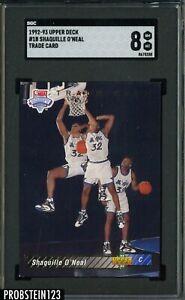 1992-93 Upper Deck Trade Card #1B Shaquille O'Neal RC Rookie HOF SGC 8 NM-MT