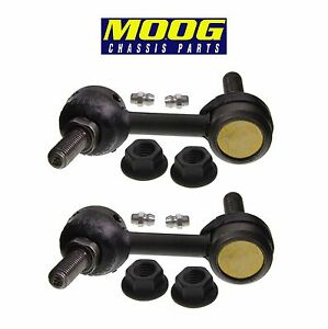 For Cadillac XLR Chevy Corvette Set of 2 Front Sway Bar End Link Moog K750136