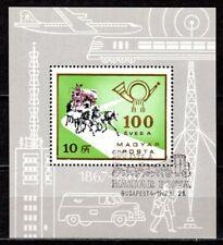Hungary - 1967 Mail centenary / Coach - Mi. Bl. 60A VFU