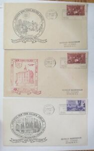 "COVER CACHET (3) DIFFERENT  ""GREATER NEW YORK GOLDEN JUBILEE 1948 w/SLOGAN"
