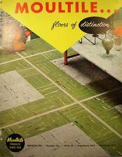 MOULTILE VINYL ASBESTOS & ASPHALT Tile Flooring Catalog 1957