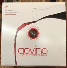4 Govino Dishwasher Safe Flexible 16oz Shatterproof Recyclable Wine Glasses