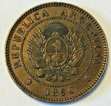 Argentinien, 1 Centavo 1890 Argentine KM# 32, CJ# 38 to 51 UNC Zeldzam