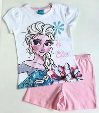 Elsa Set Gr. 110 Kinder Mädchen Sommer Set T-shirt Short Frozen Disney