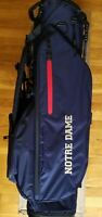 BRAND NEW CUSTOM TITLEIST PLAYERS 4 NOTRE DAME NAVY STAND BAG FIGHTING IRISH