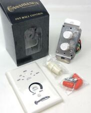Casablanca Ceiling Fan & Light W-80 White/Ivory Wall Control Switch Knobs Rare