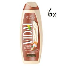 6x Vidal Almond & karite' Mandelöl Schaumbäder Bades bath shower foam 500ml