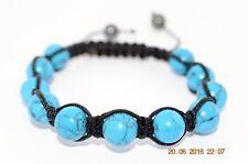 Bracelet Shamballa perles Howlite Turquoise 8mm - Equilibre / Compréhension