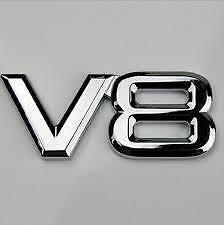 NEW ALUMINIUM + PLASTIC BADGE CAR Emblem SUIT V8 HSV COMMODORE /FALCON/TOYOTA