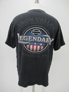 M0935 VTG Harley Davidson Motorcycle Biker Legendary T-Shirt Made in USA Size L