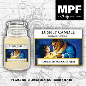 Personalised 'Beauty & the Beast' Candle Label/Sticker - Perfect birthday gift!