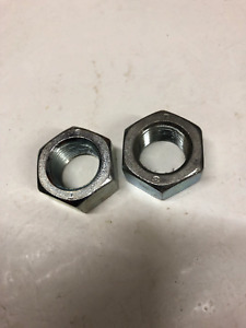 18mm  x 1.5 mm pitch metric fine nuts BZP plated finish . Pack of 2.