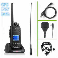 TYT MD-390 ★GPS★ UHF +SPEAKER +CABLE DMR IP67 Waterproof Dual Band Radio EMISORA