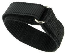 18mm Extra Long Premium Nylon Sports Watch Band Dive Surf Super Tuff Black NEW