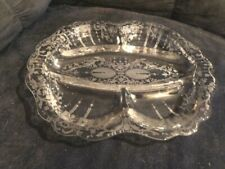 EXQUISITE CAMBRIDGE CANDLELIGHT ETCHED 5-PART CELERY & RELISH BOWL #3900/120