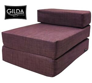 Chair Z Bed Fold out Futon Single Guest Folding Mattress Sofa Bed Chairbed Gilda