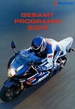 Prospetto SUZUKI 2003 brochure SV 1000 S GSX-R 750 600 BURGMAN MOTO Giappone