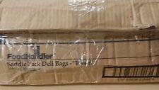 "Foodhandler Saddle Pack Deli Bags8 1/2"" x 8 1/2"" with 1 1/2"" Foldback + 1"" Lip"
