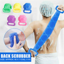 Silicone Back Scrubber Body Cleaning Tool Bath Belt Dual Sided Massage Brush
