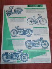 pub - dépliant - moto - velomoteur - TERROT   ( ref 21 )