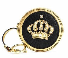 Juicy Couture Coin Bag Keyring fob Round Crown NEW