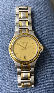 Gucci Silver Gold Men's Watch - 9040M