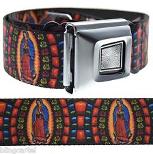 La Virgen De Guadalupe Cinto Virgin Mary Catholic Seat Belt Style Buckle-Down