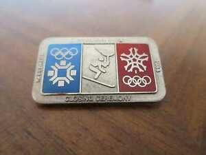 Pin Brosche SARAJEVO 1984 Olympia Schlußfeier Closing Ceremony Olympics vtg