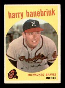 1959 Topps Set Break # 322 Harry Hanebrink EX *OBGcards*