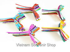 Lot 100 Handmade Painted Self Balancing Bamboo Dragonfly for wedding decor 4.7''