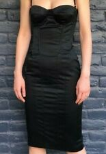 Dolce & Gabbana D&G black bustier boned corset dress sz 42 UK10US6EU36