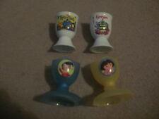 4x novelty retro eggcups egg cup Fimbles Tweenies Noddy Dora The Explorer