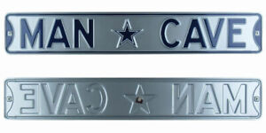 Dallas Cowboys Authentic Steel Street Sign Man Cave with Logo 36x6 36in