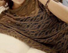 WOMENS DOLMAN SLEEVES MESH  KNIT LOOSE FITTED SUMMER KNIT SIZE XS,S,M