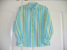 Foxcroft Sz 2P Wrinkle Free multi-color stripe long sleeve blouse Very good!
