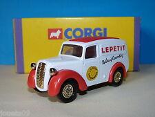 1) Morris Z van publicité fromage camembert Lepetit Corgi camions d'antan