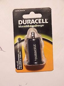 New DURACELL Mini USB Car Charger DU1618 most Cell Smart Phones Tablets E-Reader