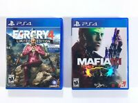 FarCry 4 Limited Edition & Mafia III Playstation 4 Game Lot of 2 Tested Works