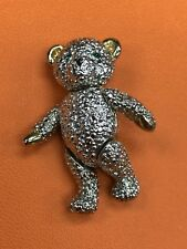 Collectible Silver Tone Teddy Bear Brooch
