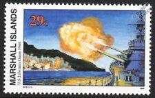 WWII 1944 US Liberates Guam - US Battleship Bombardment Warship Stamp