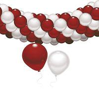 Luft Ballon Girlande rot-weiss 76 Teile Party Deko Geburtstag Dekoration Verein