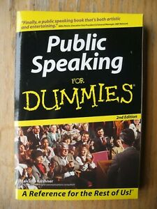 Public Speaking For Dummies by Malcolm L. Kushner (Paperback, 2004)