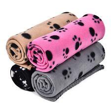 Pet Blanket Large Fleece Fabric Dog Cat Mat Paw Print Carpet Bed Kennel Cover