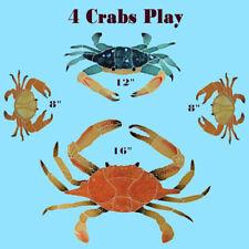 Crabs 4 Mosaic Tile swimming pool Bath wall table bar patio walk way art