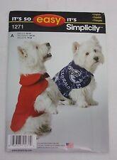 Simplicity Sewing Pattern 8277 lana abrigos perro estacional