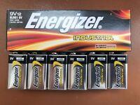6 x Energizer 9v Industrial Batteries Block Battery Alkaline Smoke Alarm PP3