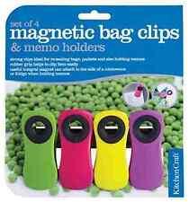 4 x Funky Magnete per Frigorifero NOTE MEMO PORTA BUSTE Set NUOVO Promemoria Magnetico