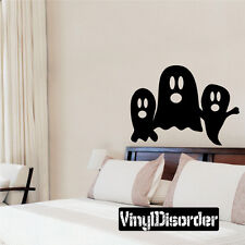 Ghosts Halloween Holiday Vinyl Wall Decal Mural Quotes Words -cp077