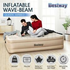 Bestway Queen Air Bed Inflatable Mattress Built-in Electric Pump Camping Home